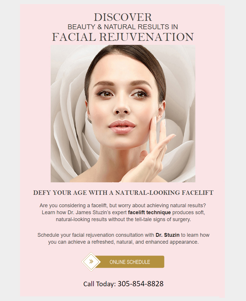 Schedule a consultation for Facial Rejuvenation